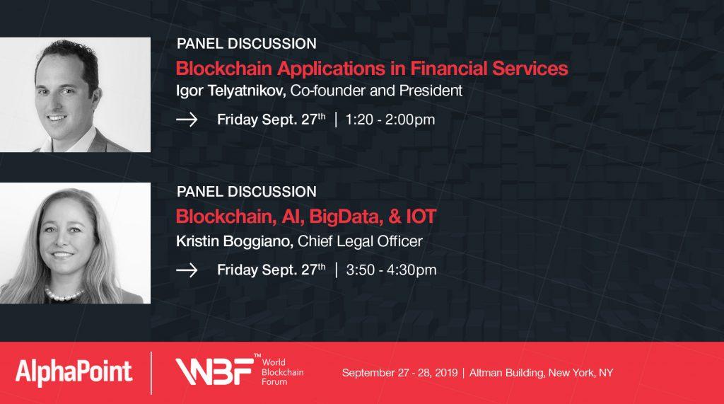 World Blockchain Forum (WBF) - AlphaPoint