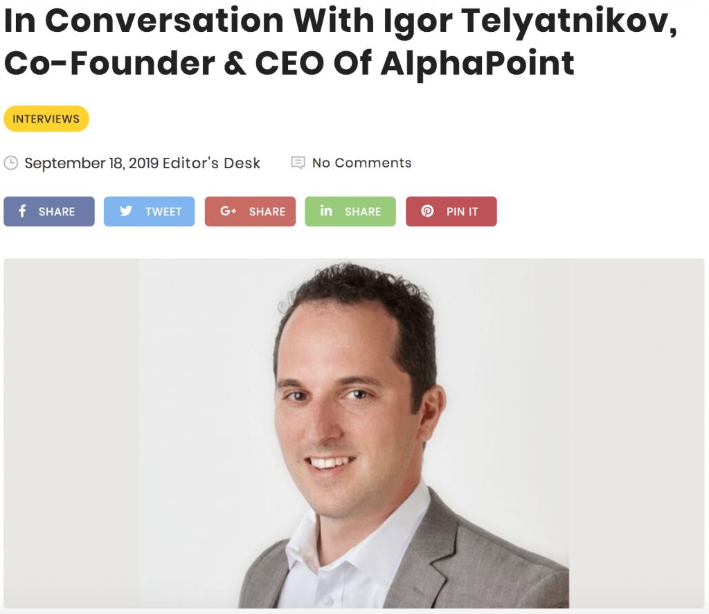 Blockchain Magazine - Igor Telyatnikov