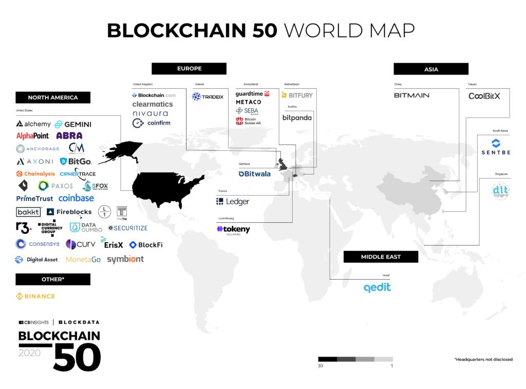 Blockchain 50 - World Map